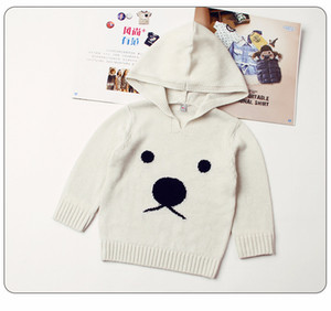 Wholesale Cute Animal Pattern Newborn Winter Clothing Toddler Infant Knitwear Sweaters Funny Bear Baby Boys Girls Knitted Sweaters Pullovers