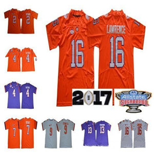 Wholesale sugar bowls for sale - Group buy Clemson Tigers Trevor Lawrence Deshaun Watson Travis Etienne Jr Hunter Renfrow Purple White Orange Sugar Bowl Champions Jerseys