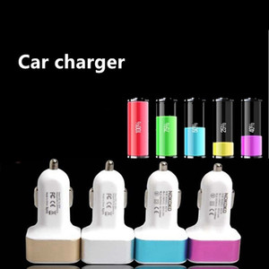 Wholesale Universal Charger Traver Adapter Car Plug Hot Selling Triple USB Ports Car Charger For iPhone Samsung Ipad Free Ship