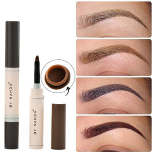 Wholesale 2018 Fashion Professional Eye Brow Dye Cream Pencil Long Lasting Waterproof Brown Tint Paint Henna Eyebrow Set Makeup Kit Gift