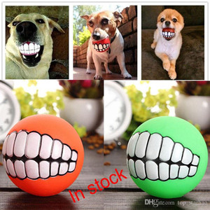 Wholesale 2017 Pet Puppy Dog Funny Ball Teeth Silicon Chew Sound Dogs Play New Funny Pets Dog Puppy Ball Teeth Silicon Toy XL G319