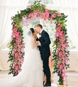 Wholesale Artificial Flowers ft Silk Wisteria Ivy Vine Hanging Garland Wedding Party Supplies Christmas Home Garden Decoration Fake Flowers DHL