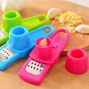 Wholesale Creative Ginger Garlic Press Grinding Grater Multi Functional Stainless Steel Planer Slicer Cutter Cooking Tool Utensils Kitchen Accessories