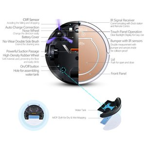 Wholesale Cyclone Iseelife Wet Robot Vacuum Cleaner For Home In1 Pro2s Mop Dry Wet Water Tank pa Auto Cleaning Smart Robot Aspirador