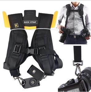 Camera Strap Double shoulder strap 2 digital SLR camera DSLR photography accessories shoulder harness Quick Rapid Sling Camera belt