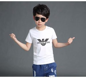 Wholesale New Fashion Children Lapel Short sleeves T shirt Boys Tops Clothing Brands Solid Color Tees Kids Polos t Shirt Girls Classic Cotton T shirts