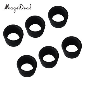 Wholesale 6 Pieces Black Rubber Rod Holder Insert Replacement Fits Stainless Steel Fishing Rod Holder Dia mm Fishing Accessories