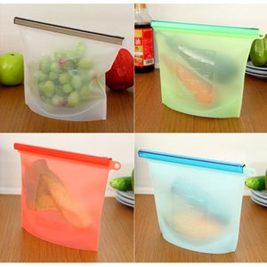 New Reusable Silicone Food Preservation Bag Airtight Seal Food Storage Container Versatile Cooking Bag Free Shipping on Sale