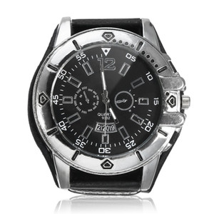 Wholesale OUTAD Wide Leather Men Watch Quartz Men Watch Ladies Sport Analog Wrist Large Dial