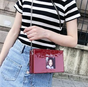 Wholesale Super fire chain small square bag on the new fashion oblique box type lovely girl explosion package