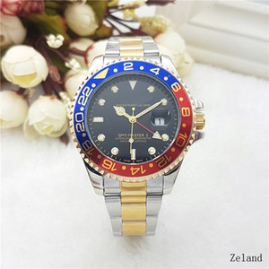 Wholesale relogio masculino mens watches A dress designer fashion Black Dial Calendar gold Bracelet leather Master Male clock gifts lovers