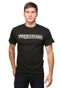 WEW WrestleMania Logo 30 1 Men's T-Shirt NEW ARRIVAL tees causal summer t shirt free shipping new fashion 100% Cotton For Man Tee