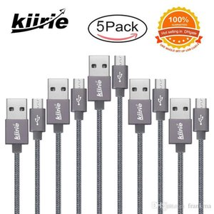 Micro USB Cable Kiirie 5 Pack 1x0.5m 3x1m 1x1.5m with Nylon Braided Durable Charging Cables for Android Charger Type C Huawei Samsung Xiaomi