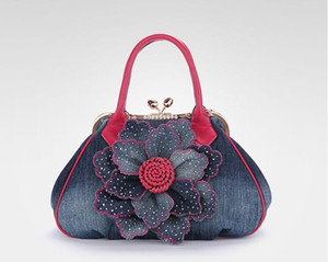 New brand women's bag European and American style bag, ox zibu flower lady high quality designer handbag on Sale