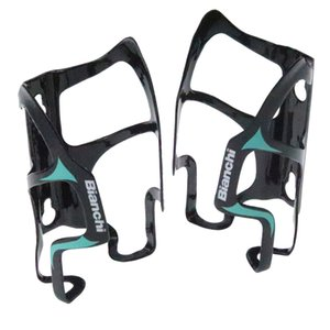 2 pieces 3K Finish Full Green Color Carbon Fiber Bicycle Bike Water Bottle Holder Carbon Water Bottle Cage on Sale