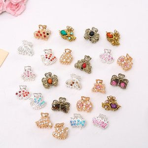 High Quality Butterfly Knot Crystal Rhinestone alloy crab Hairpin claw clip Bridal Jewelry Headwear Accessories 2018
