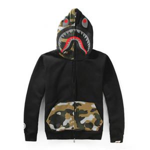 2018 Mens designer Sweatershirt Ape Hoodies Long Sleeve Justin Bieber bathing with Shark Printing Hooded Hoodies Cheap Sale