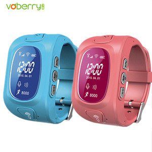 Wholesale VOBERRY Hot GPS GSM Wifi Tracker Watch for Kids Children Smart Watch With SOS Support GSM phone Android IOS Anti Lost Watches