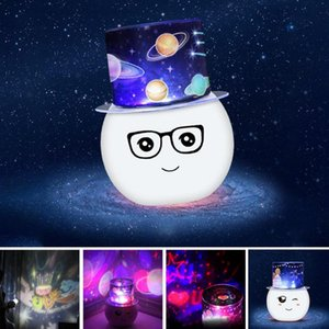 Wholesale Cute Snowman Charging USB LED Projection Lamp LED Projector Romantic Sky Bedroom Decoration Kid s Birthday Gift Night Light