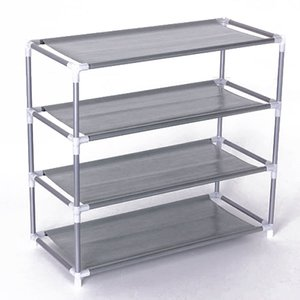 Wholesale Non woven Fabric Storage Shoe Rack Hallway Cabinet Organizer Holder removable door shoe storage cabinet shelf DIY Home Furniture