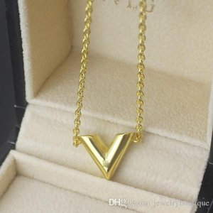 Wholesale 316L Titanium steel Necklace Pendant with v shape pendant in cm length women and man Necklace Jewelry PS5011