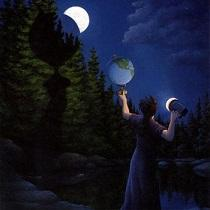 Framed ROB GONSALVES - Eclipse,Amazing Quality Famous Art Oil Painting Canvas Multi Sizes Free Shipping RG002.