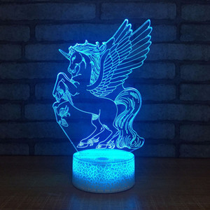 Acrylic 7 Color Meditation 3D LED Nightlight of Bedroom Lamp Livingroom Lights Desk Table Decoration Night Light
