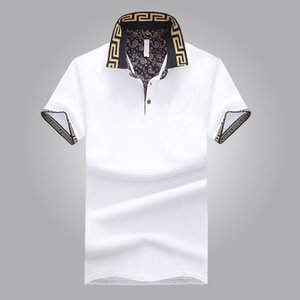 Wholesale Hot Sales Shirt Luxury Design Male Summer Turn-Down Collar Short Sleeves Cotton Shirt Men Top