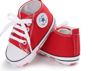 Wholesale New Canvas Baby Shoes For Girls Boys Newborn Shoes Baby Walker Infant Toddler Soft Bottom Anti slip First
