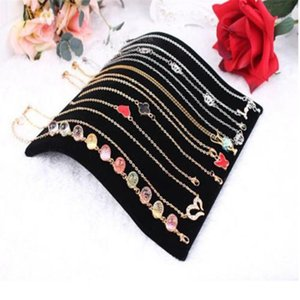 Fashion Black Velvet Necklace Bracelet Display Board Necklace Chain Pendant Display Jewelry Organizer Stand Holder For Women