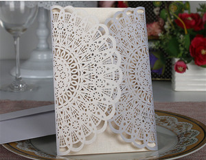 Wholesale marriage cards designs for sale - Group buy 2018 New European Designs Hollow Wedding Invitations Personal Customized Laser Cut Marriage Business Party Invites Cards