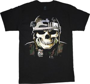 Wholesale Military skull decal t shirt for men army helmet usmc marine corps tee Short Sleeve O Neck Cotton Print Mens Summer