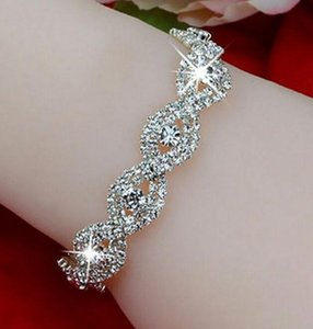 DHL Diamond Austrian Crystal Bracelet for Women Fashion Deluxe Elegant jewelry luxury Infinity Rhinestone Bangle party Gift nt