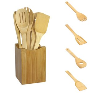 Wholesale 6pcs set Mixing Set Bamboo Spoon Spatula Kitchen Utensil Wooden Cooking Tool kitchen tools