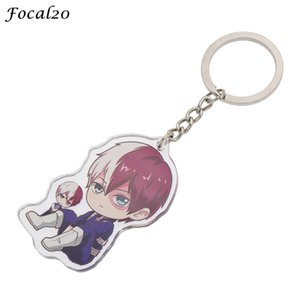 Wholesale Focal20 Trendy Acrylic Cute Anime Cartoon Character Key Chains for men Women New Boku Key Chain Accessories