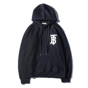 Wholesale new bur Mens womens Branded Hoodie Light Fleece Sweatshirts Fashion Printed Hooded Pullovers Street Style Mens Sportswear