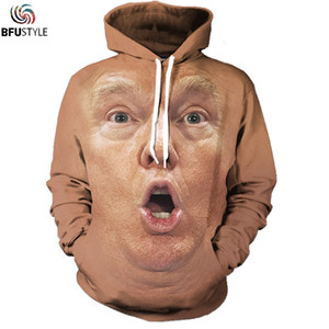шокирующие лица оптовых-Trump Shocked Face Hoodie Hoodies Men Women New Fashion Hip Hop Pullover Tops Casual Tracksuit D Hooded Sweatshirt