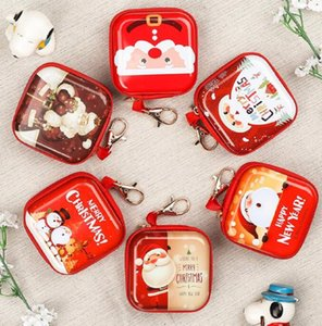 Wholesale Hot Sale mini Cartoon Coin Purse Christmas gift Key Case Wallet Snow man birthday happy new year Headset Bag Coin Bag