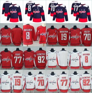Wholesale 2018 Stadium Series Washington Capitals 8 Alex Ovechkin 77 TJ Oshie Evgeny Kuznetsov Backstrom Holtby Wilson Winter Classic Hockey Jerseys