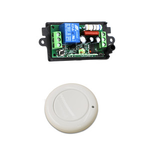 Wholesale car New AC220V V CH Wireless Remote Control Light Switch Radio Receiver and Wall Round Transmitter mhz
