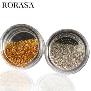 Wholesale 2 Box Nail Art Gold Silver MIni Nail Caviar Beads Gel Polish D Wheel Manicure Tools Fingernail Decorations Accessories