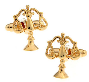 Wholesale scales justice for sale - Group buy High Quality Golden Libra Scales of Justice Cufflinks for men shirt Wedding Cufflinks French Cuff Links Fashion Jewelry Best Gift