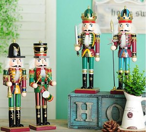 Wholesale Walnut Soldier Pure Hand Drawing Wooden Nutcracker Puppet Multi Color Toys Christmas Gift Self Painted Craft Decoration Doll