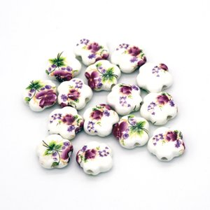 Wholesale 200pcs Good Quality Nice Ceramic Porcelain Beads Fashion Bracelet Necklace DIY Findings Chinese Jewelry DIY Making Accessories