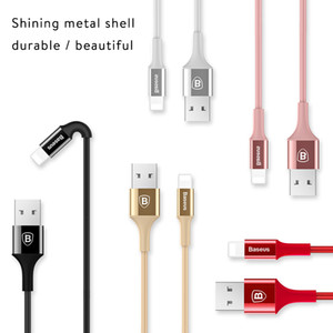 Wholesale Baseus LED lighting Charger Cable For iPhone X USB For iPhone iPad Fast Charging Charger Cable Mobile Phone Data Cable