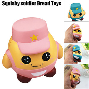 Pink Blue Jumbo Squishy Kawaii Soldier Doll Toys Slow Rising Cute Lovely Doll Squishies Fun Toys Stress Release Kids Gifts