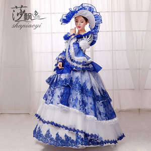 Wholesale Cosplay Women s Rococo Ball Grown Gothic Victorian Dress Costume