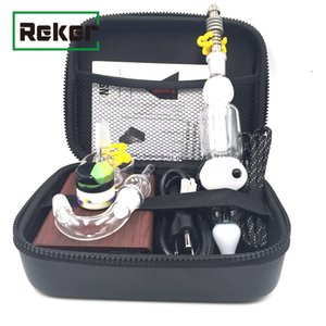 Wholesale Cheapest Mini Nectar Collector Electric Dab E Nail Kit Coil Heater For Wax Temp Control Function Vaporizer ENAIL Kit DHL Free