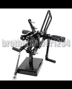 CNC Rear set Footrests Fully Adjustable Rear Foot Boards Fit for HONDA CBR400RR NC29 93-99 CBR900RR 893cc SC28 92-95 CBR919RR SC33 96-99