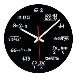 Hot Sale Acrylic Wall Clock Maths Equation Modern Design Portugal Euro Novelty Art Unique Watch Clock Home Decoration Accessorie on Sale